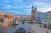 St Mary Basilica and Church of St Wojciech in Krakow