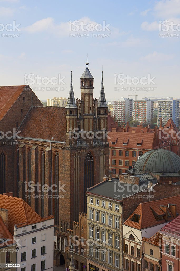 st Mary church, Torun, Poland stock photo