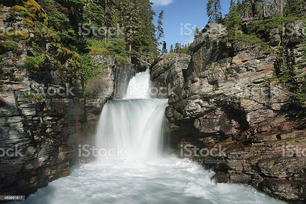 St Mary in Glacier National Park stock photo