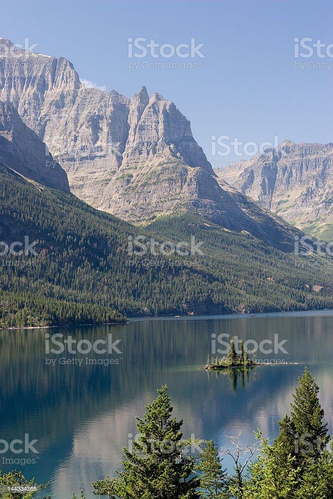 St Mary Lake II royalty-free stock photo
