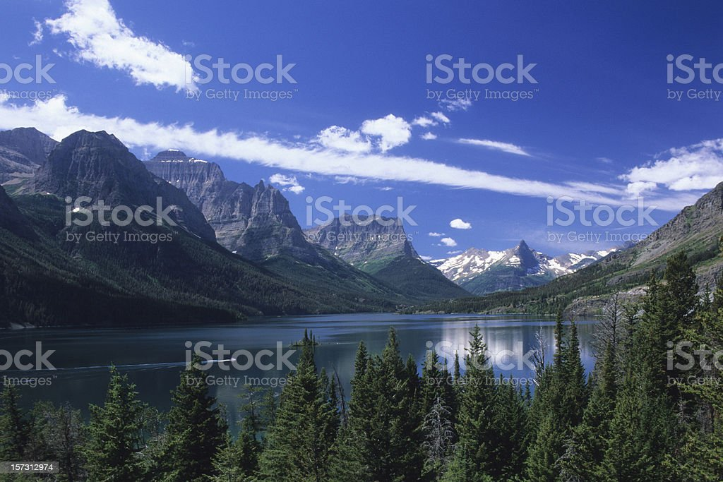 St Mary Lake stock photo