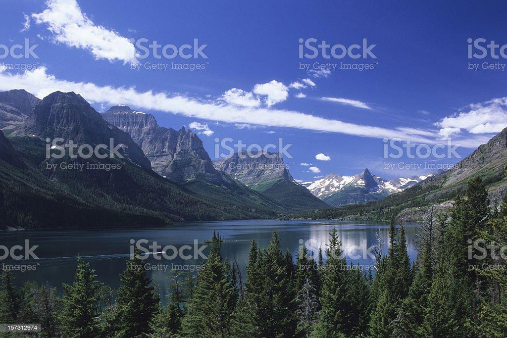 St Mary Lake stock photo