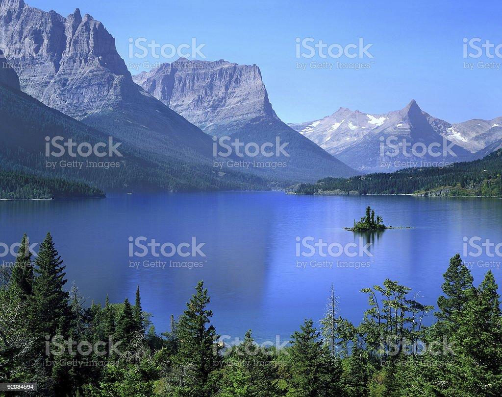 St Mary Lake royalty-free stock photo