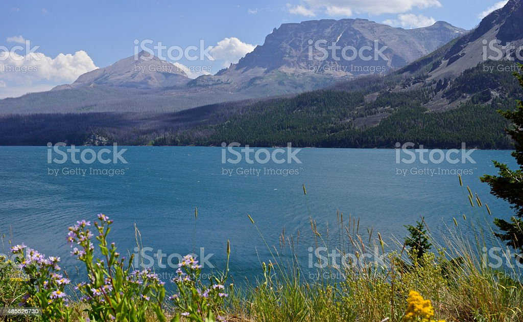 St. Mary Lake Verde stock photo