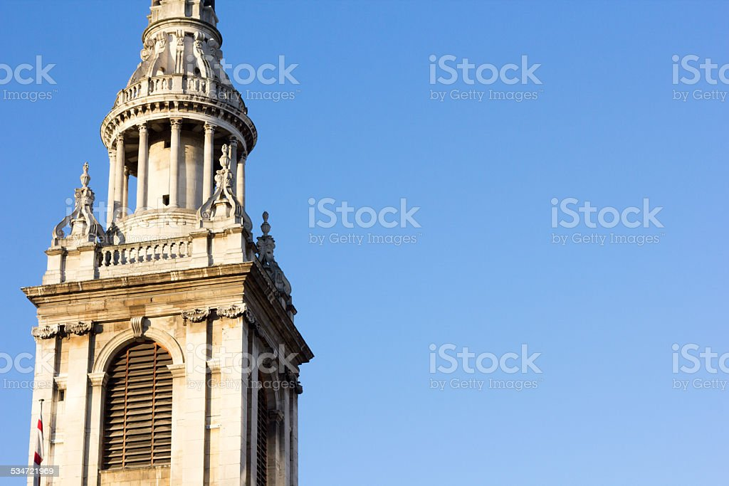 St Mary le Bow in Cheapside, London stock photo