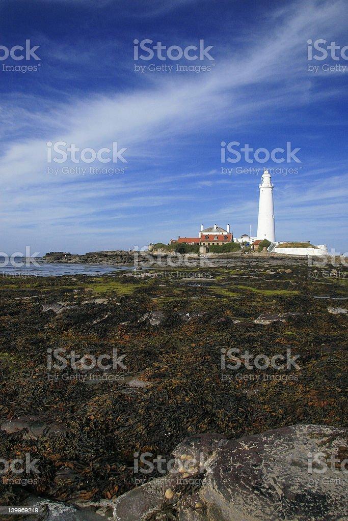 St mary Lighthouse royalty-free stock photo