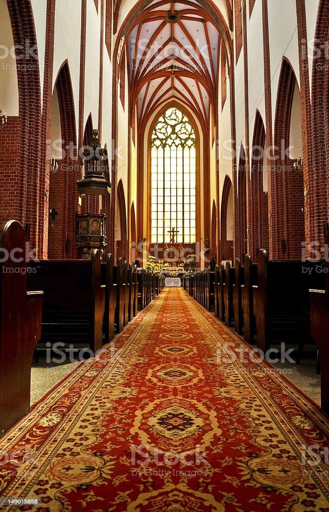 St. Mary Magdalene gotische Kirche innen Lizenzfreies stock-foto
