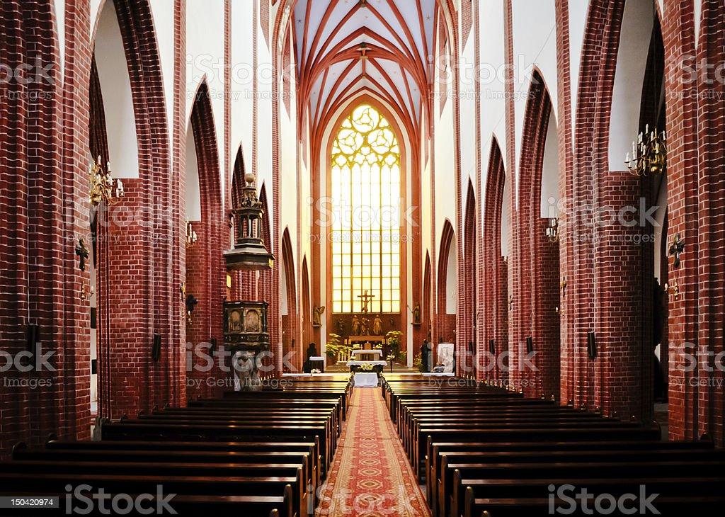 St. Mary Magdalene Gothic Church interior royalty-free stock photo