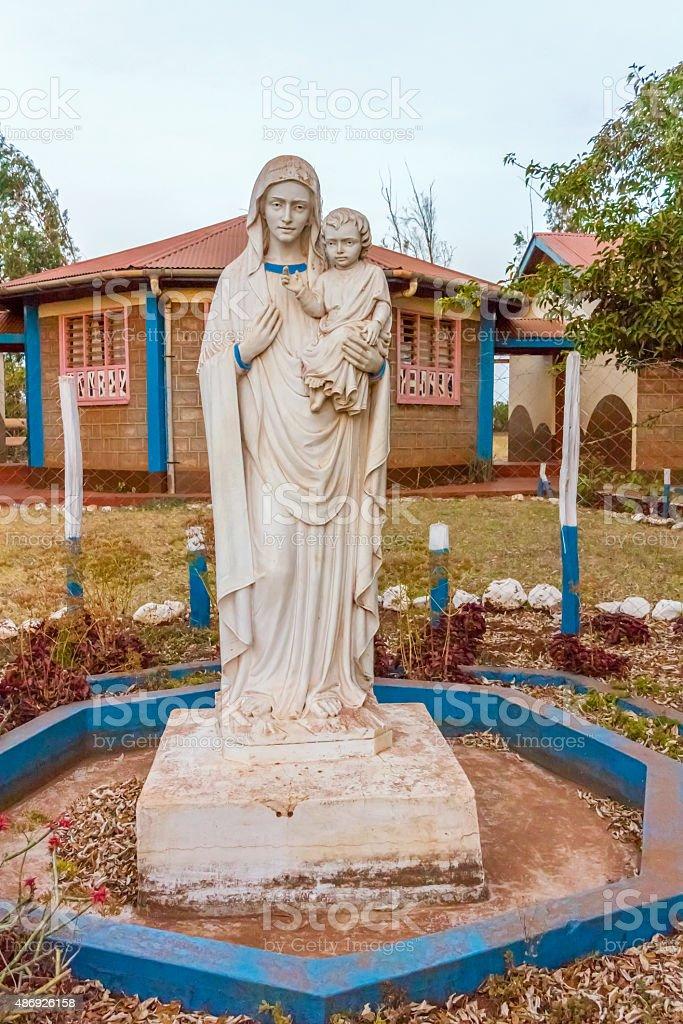 St. Mary sculpture in Marsabit Kenya stock photo