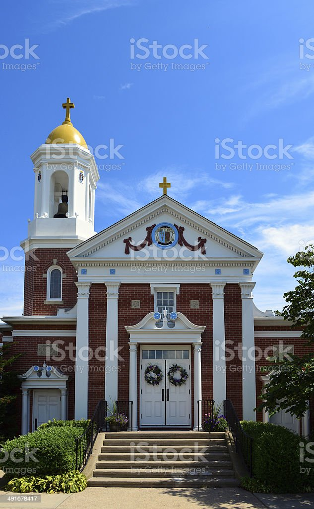 St Mary Star of the Sea church, Narragansett, RI, USA stock photo