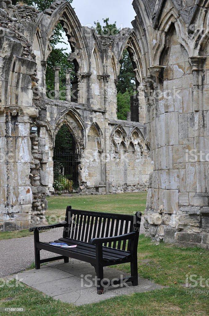 St Mary's Abbey, York, United Kingdom stock photo