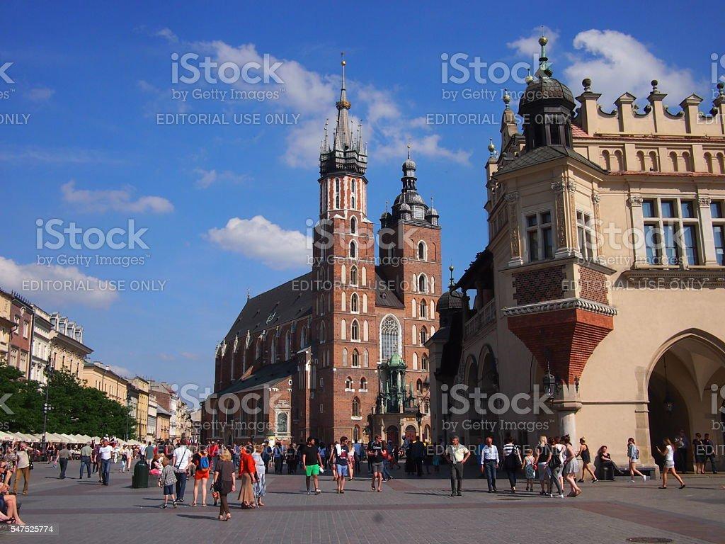 St Mary's Basilica in Krakow stock photo