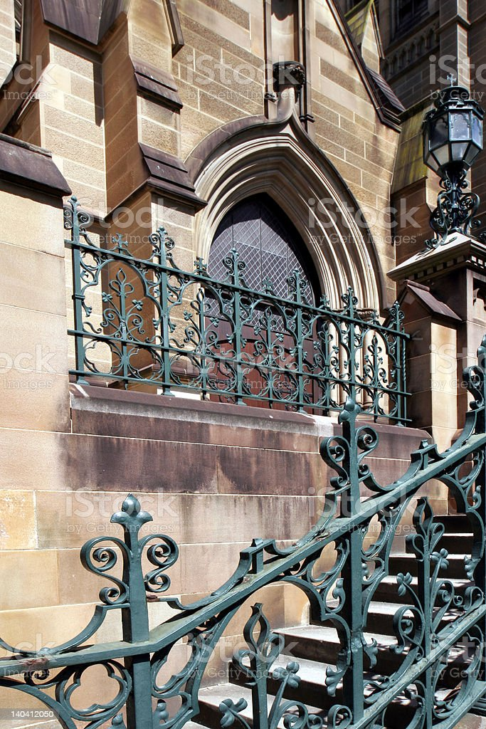 St Mary's Cathedral Door, Sydney royalty-free stock photo