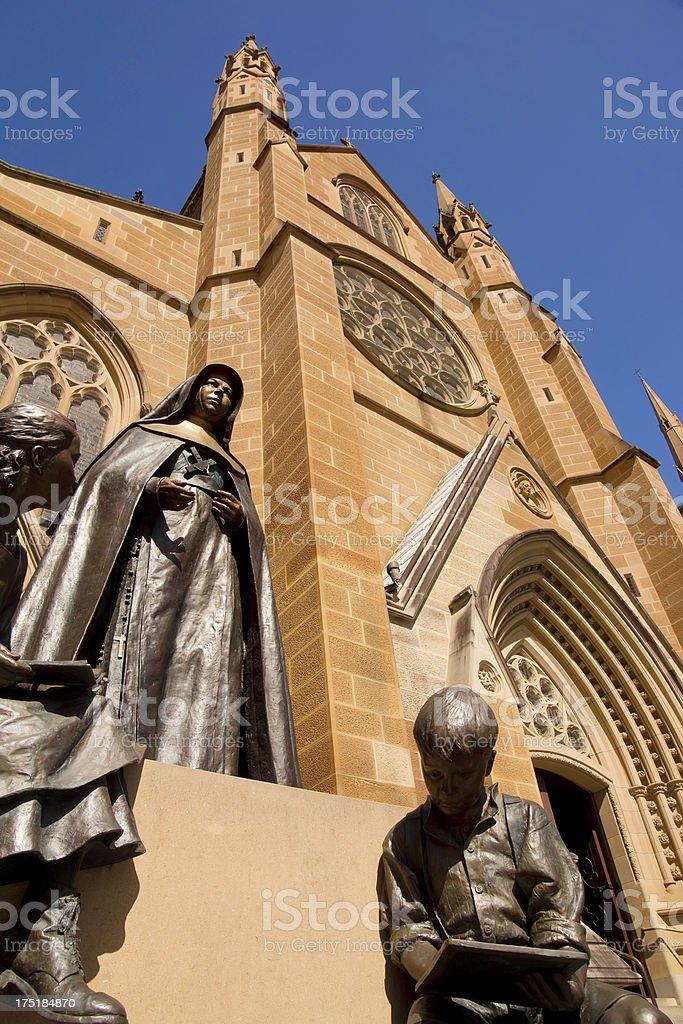 St Mary's Cathedral - Saint Mary MacKillop stock photo