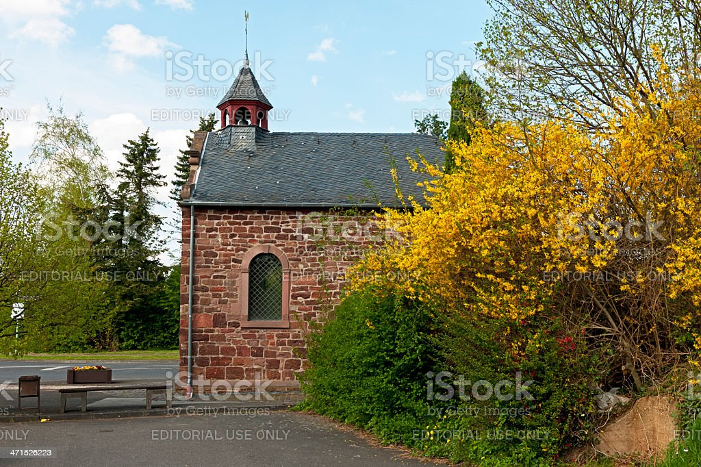 St. Mary's Chapel in Nideggen stock photo