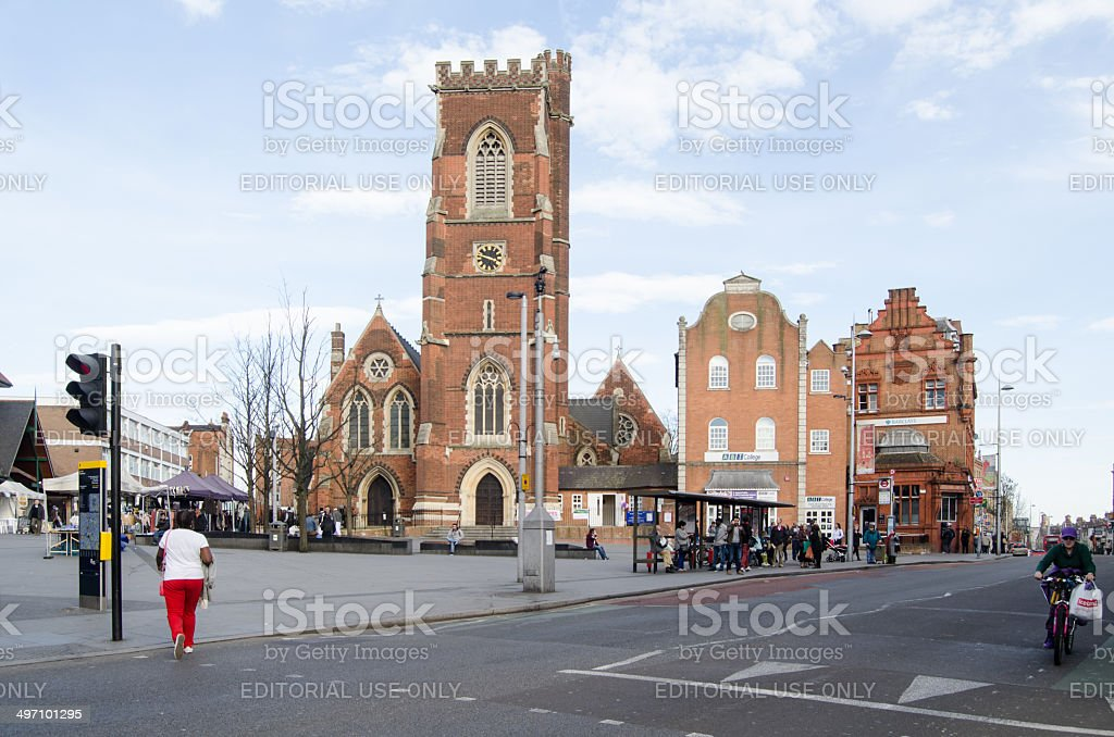 St Mary's Church, Acton stock photo