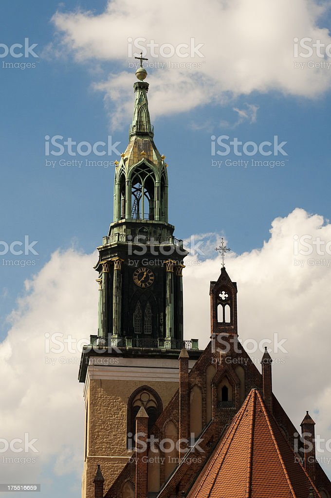 St. Mary's Church (Marienkirche), Alexanderplatz, Berlin, Germany royalty-free stock photo