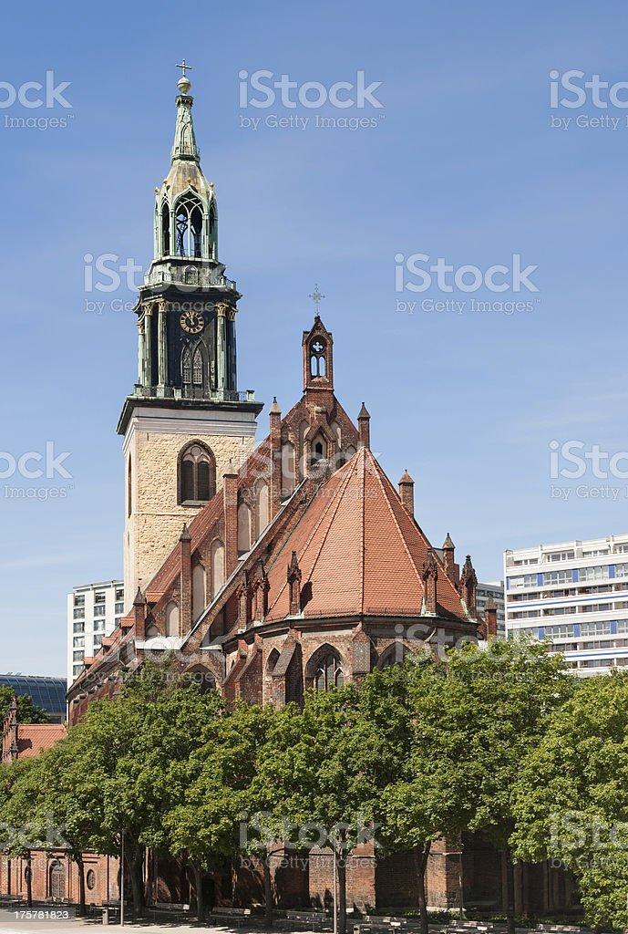 St. Mary's Church Berlin royalty-free stock photo
