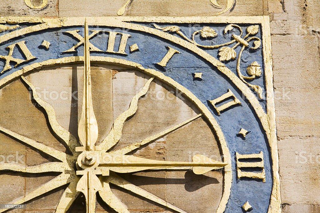 St Marys Church Clock Cambridge stock photo