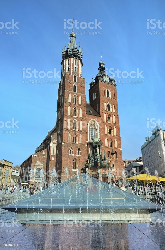 Mariacki church cracow stock photo