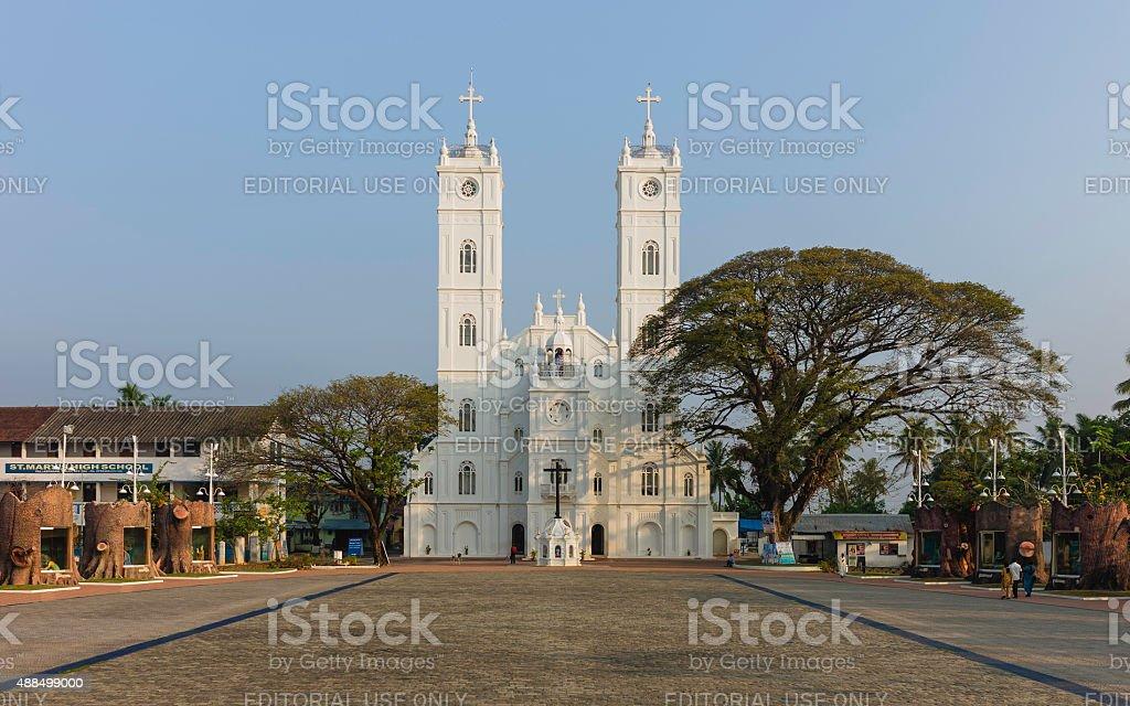 St Marys Church, Fort Kochin, Kerala, India. stock photo