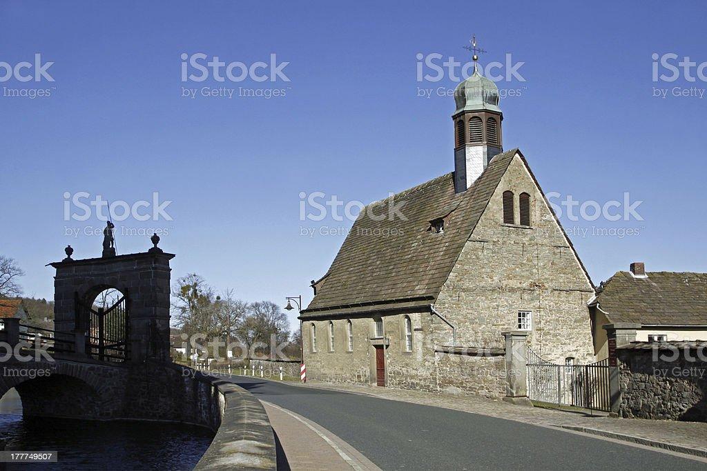 St. Mary's Church Haemelschenburg stock photo