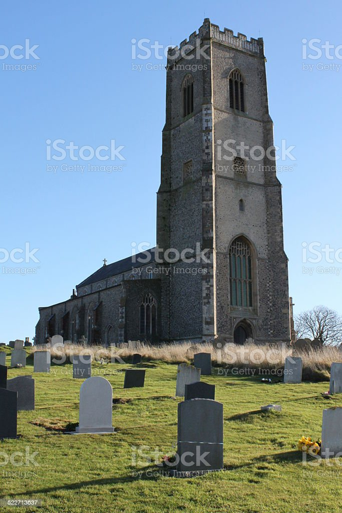 St Mary's Church, Happisburgh, Norfolk stock photo