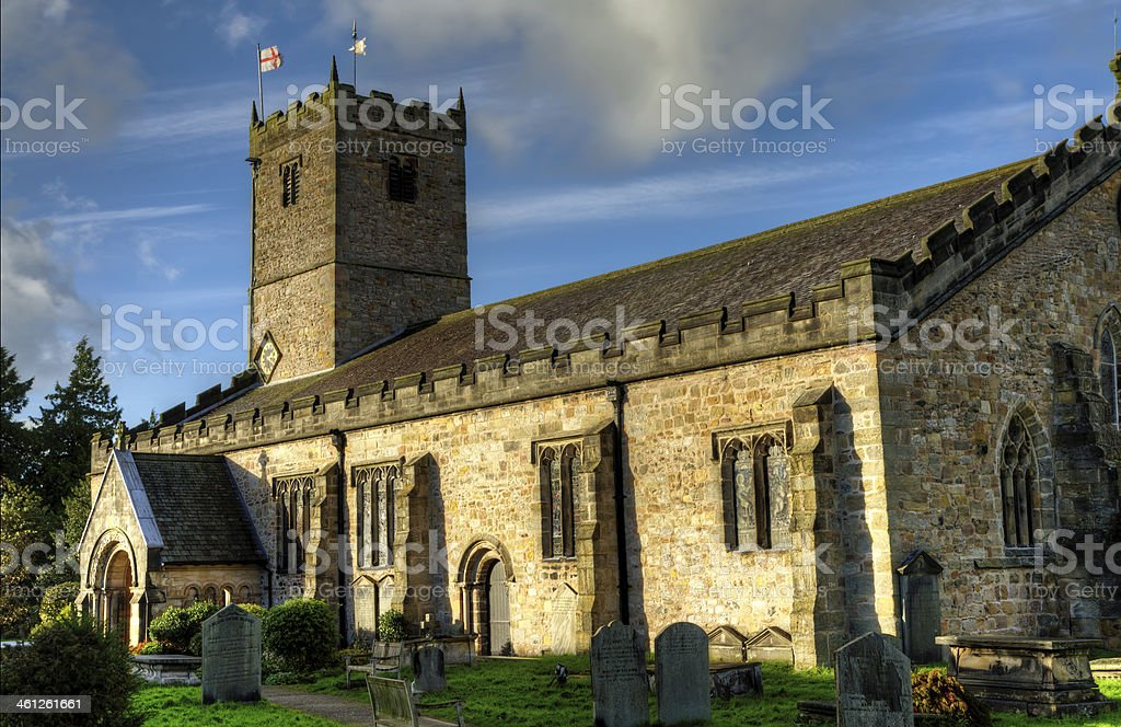 St Marys Church Kirkby Lonsdale royalty-free stock photo