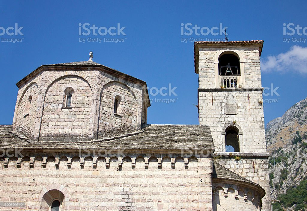 St Marys Church Kotor Montenegro stock photo