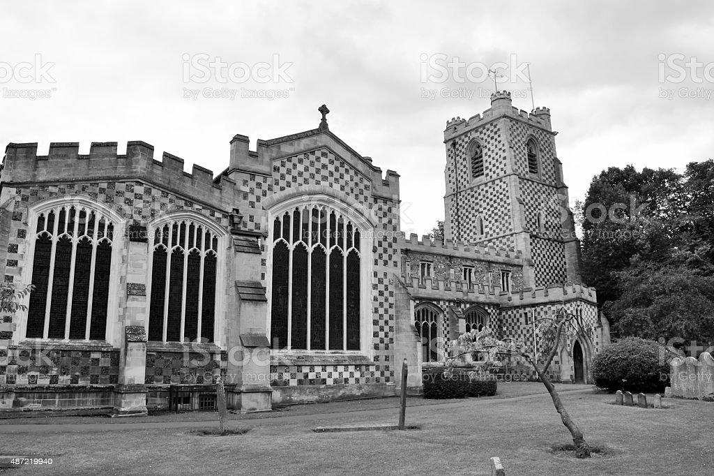 St Mary's Church, Luton stock photo