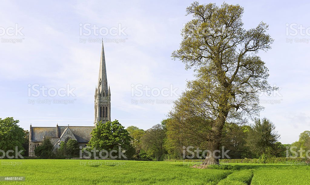 St Mary's church, South Dalton, Yorkshire, UK. stock photo