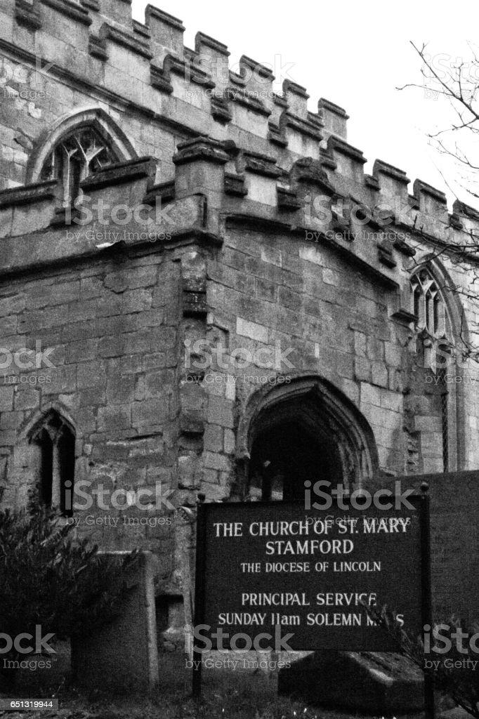 St Mary's Church Stamford stock photo