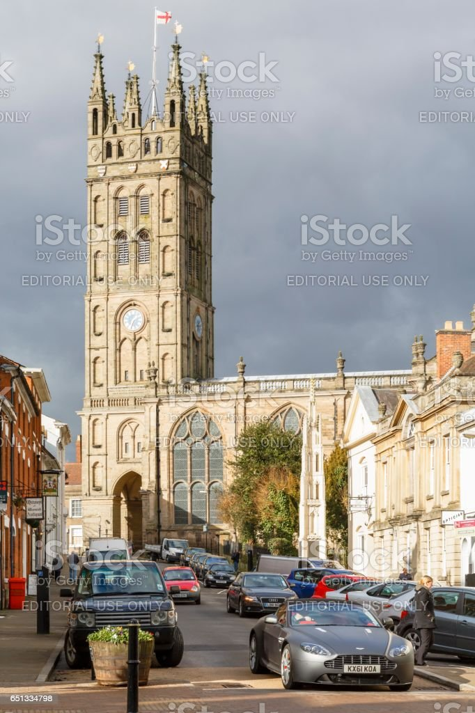 St Marys Church, Warwick stock photo