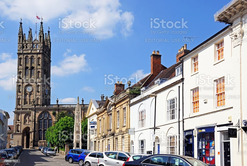 St Mary's Church, Warwick, UK. stock photo