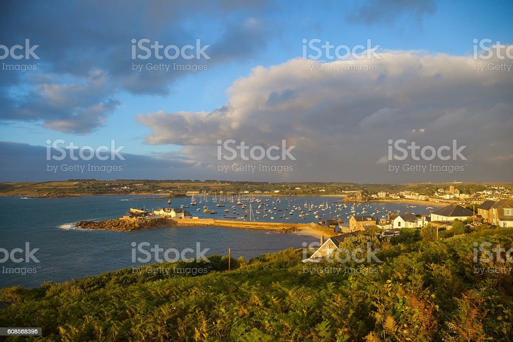 St Mary's Harbour, Isles of Scilly, England stock photo