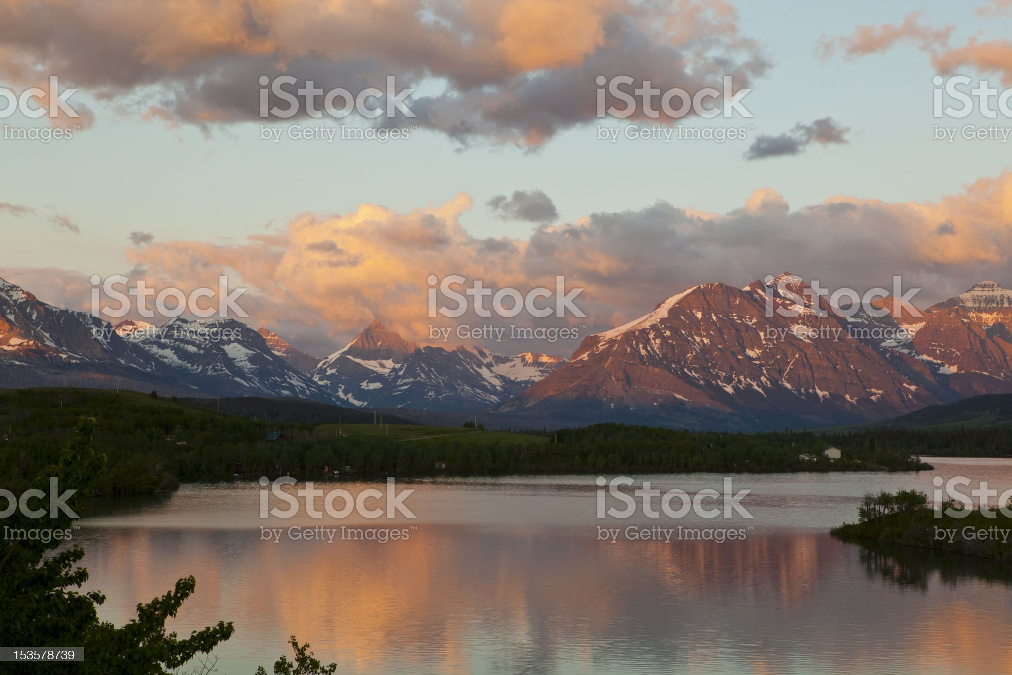 St Mary's Lake royalty-free stock photo