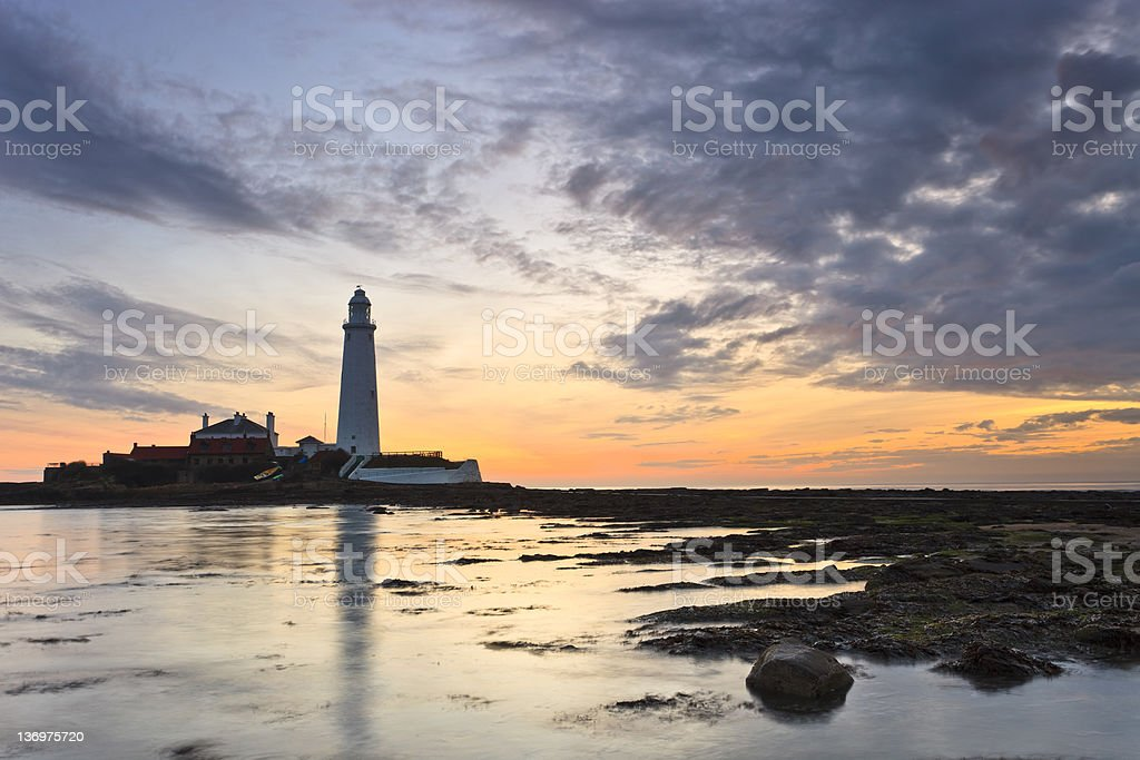 St Mary's Lighthouse royalty-free stock photo
