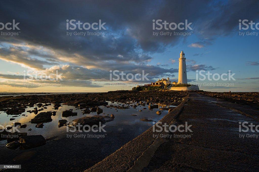 St Marys Lighthouse stock photo