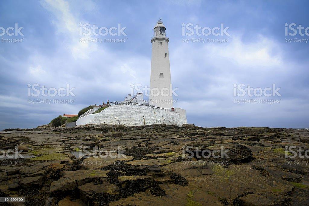 st marys lighthouse whitley bay royalty-free stock photo
