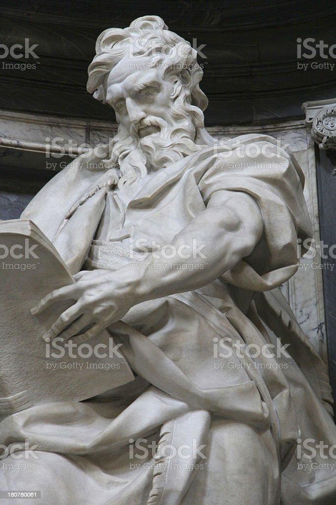 St Matthew the Evangelist by Camillo Rusconi stock photo