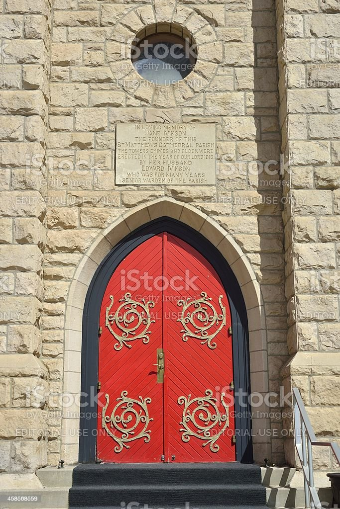 St. Matthew's Episcopal Cathedral, Laramie stock photo