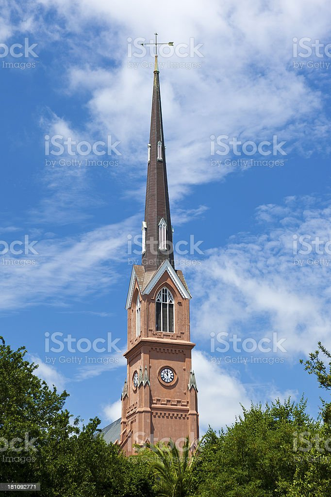 St Matthew's Lutheran Church In Charleston, South Carolina royalty-free stock photo