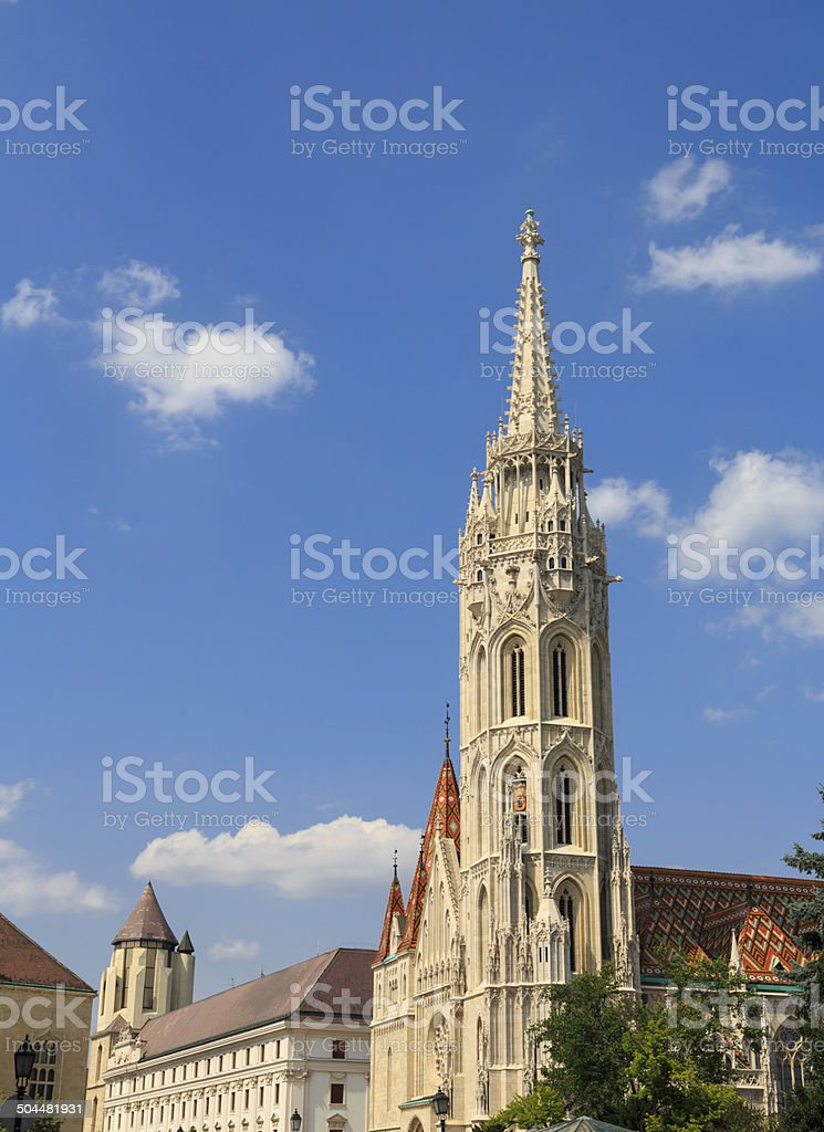 St Matthias Church in Budapest royalty-free stock photo