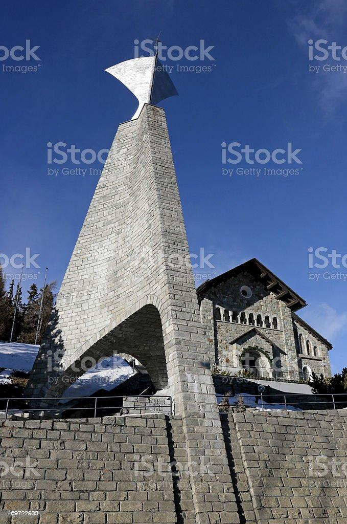 St Mauricius Catholic Church, St. Moritz Dorf, Switzerland. royalty-free stock photo