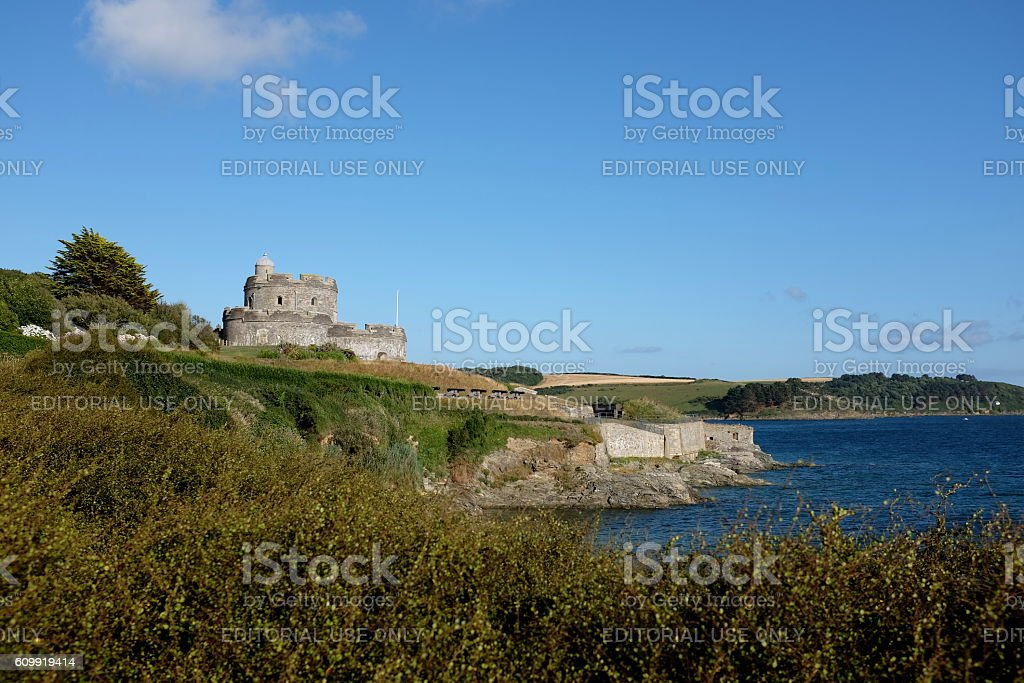 St. Mawes castle, Cornwall stock photo