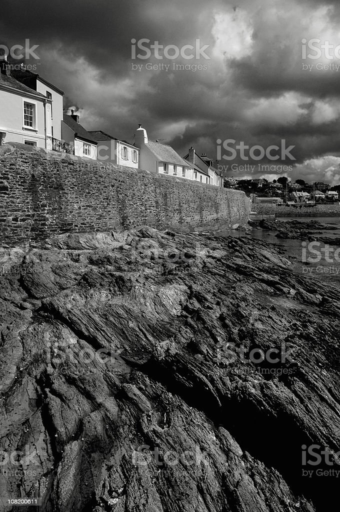St Mawes Harbour Cottages stock photo