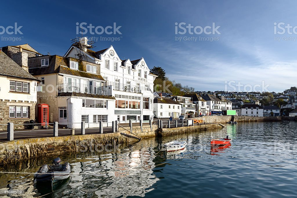 St Mawes village, Cornwall, England. stock photo
