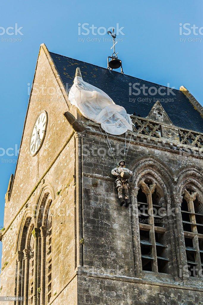 St Mere Eglise stock photo