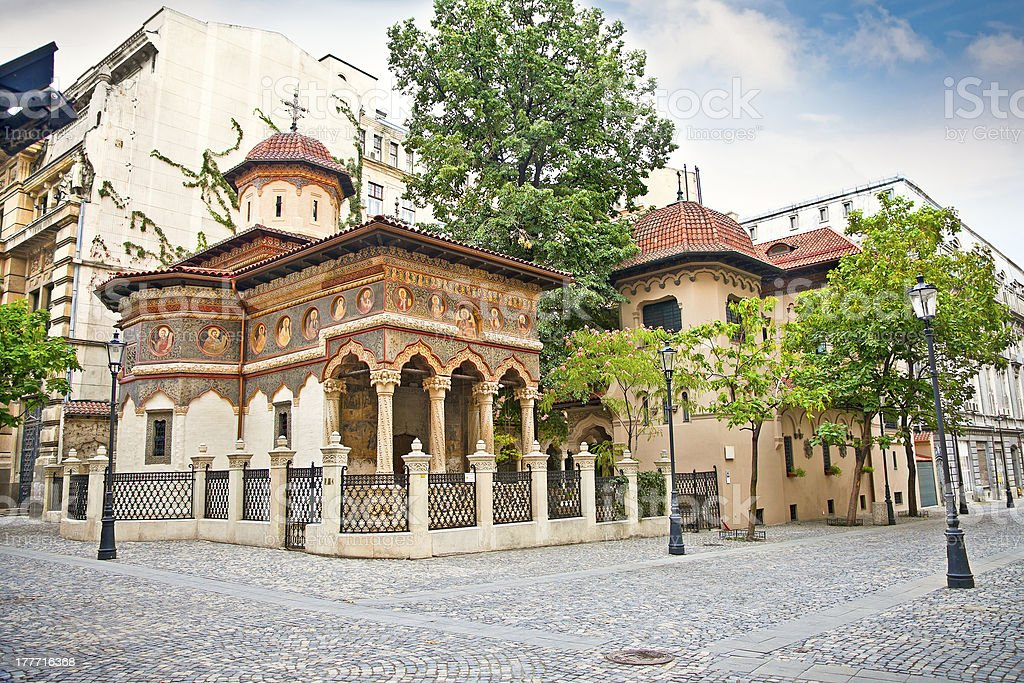 St. Michael and Gabriel church in Bucuresti, Romania. royalty-free stock photo