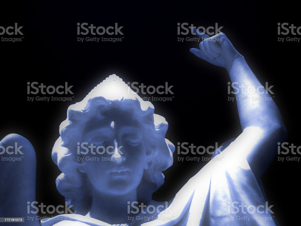 St. Michael Blue royalty-free stock photo